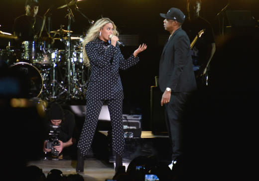Beyonce & Jay On Stage image