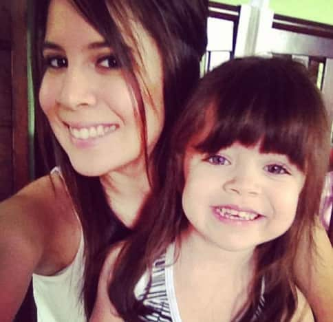 Ashley Salazar and Daughter
