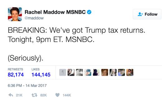 maddow tweet