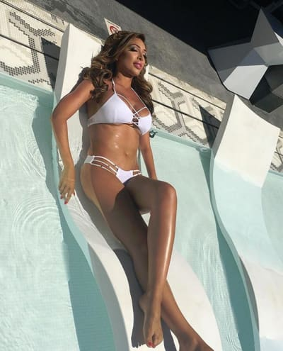 Farrah Abraham Lounges in a White Bikini