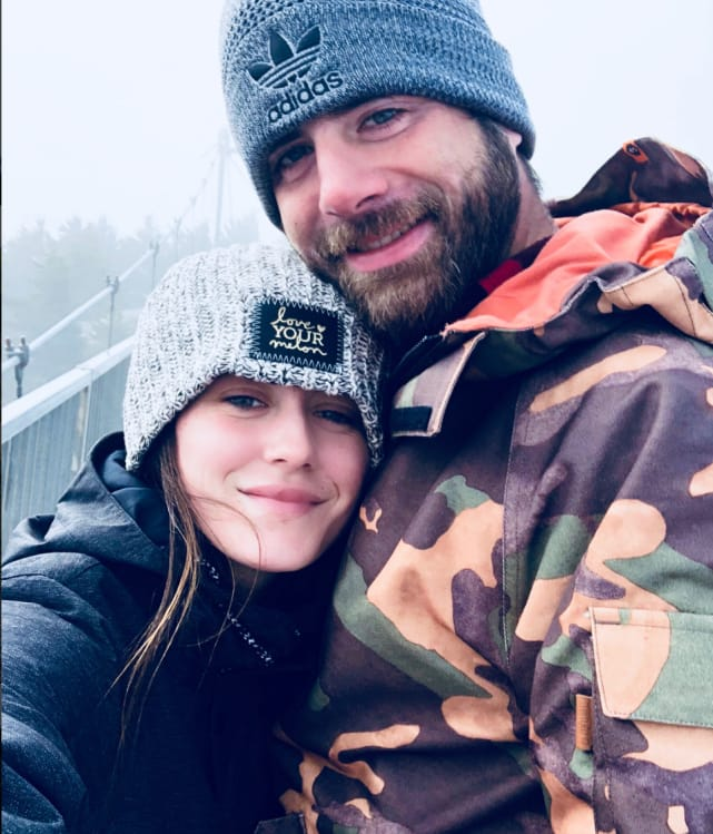 Jenelle and david top of the mountain