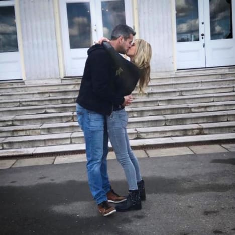 Christina El Moussa and Ant Anstead Kiss