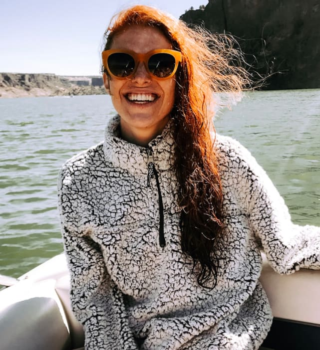 Audrey roloff on the water