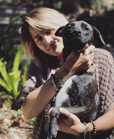 Paris Jackson and Her Dog