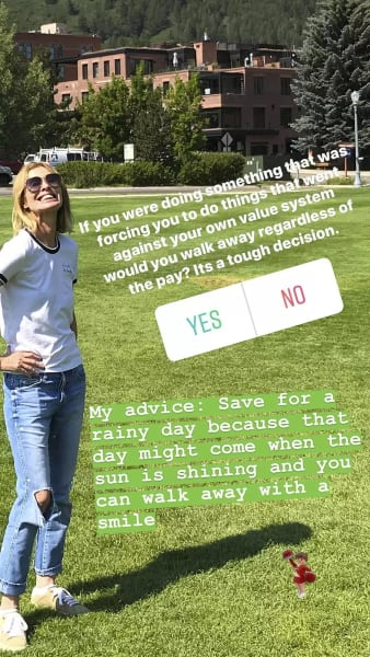 Carole Radziwill Instagram Story Vague Departure Message