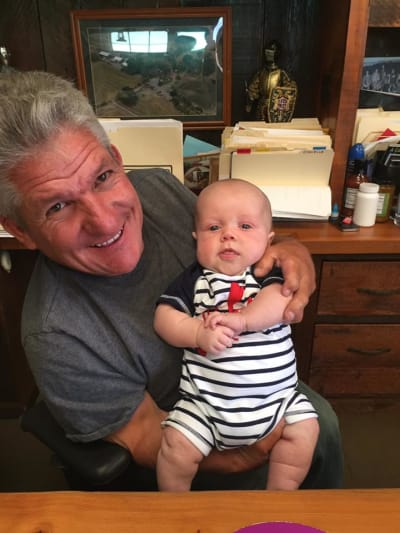 Happy Grandpa and Grandson