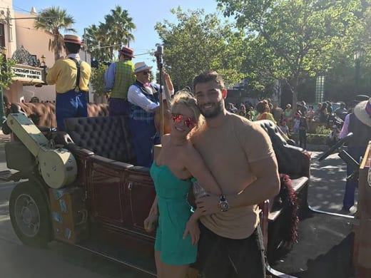 Britney Spears and Sam Asghari, Disneyland
