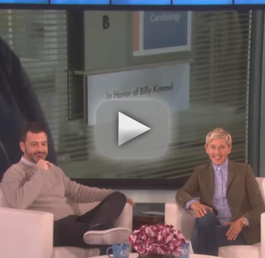 Ellen degeneres gifts jimmy kimmel a hospital room in his sons h