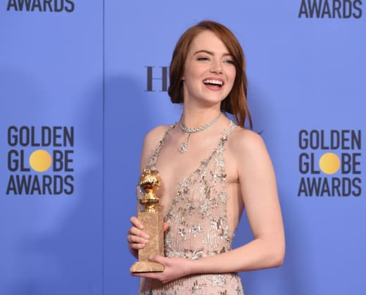 Emma Stone at the Globes
