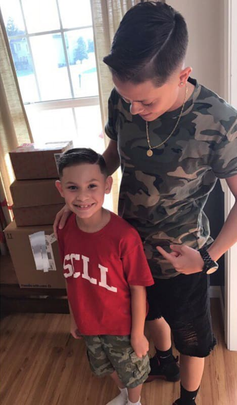 Dominique potter with kailyn lowrys son