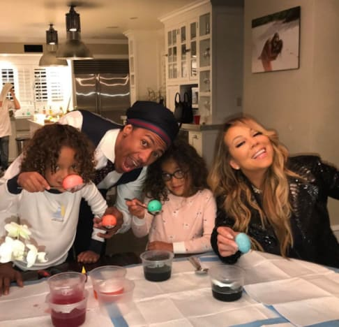 Mariah Carey and Nick Cannon with Twins