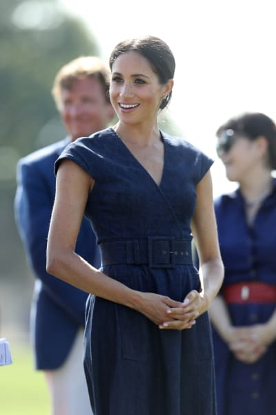 Meghan Markle in Blue Dress