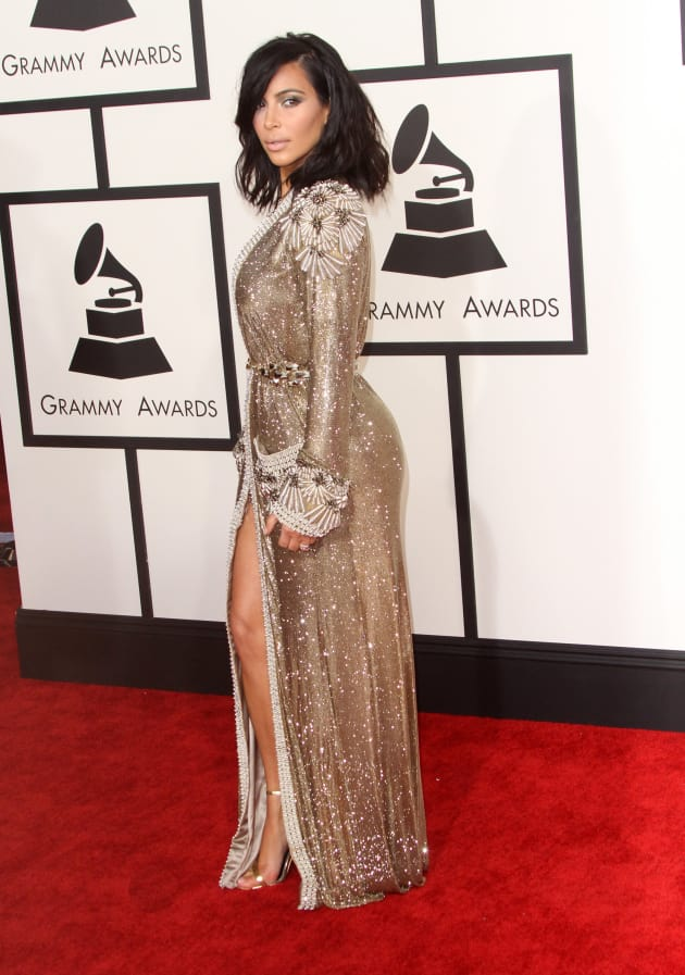 Kim Kardashian At The Grammys Do You Like Her Look The