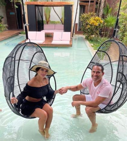Luis Ruelas and Teresa on a Swing