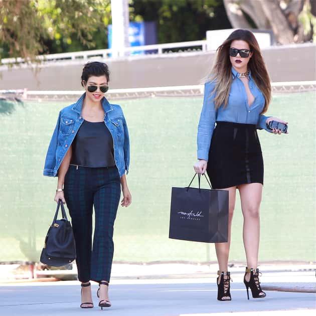 Kourtney and Khloe Kardashian Shop