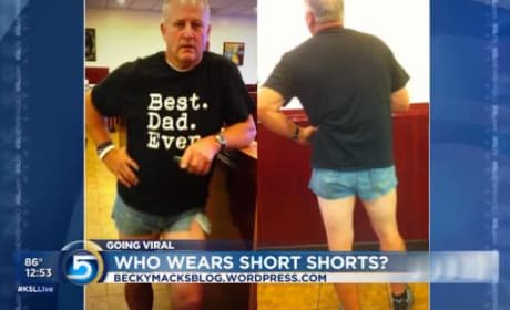 Dad Wears Short Shorts To Prove Point
