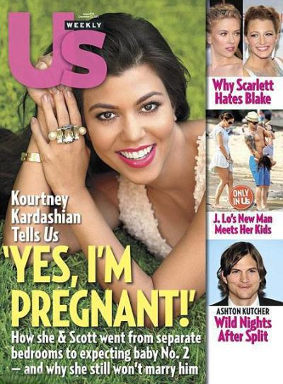 Kourtney Kardashian Pregnant Cover