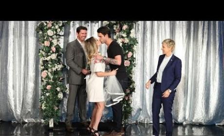Kaley Cuoco Married on Ellen