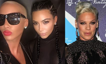 Amber Rose DEFENDS Kim Kardashian Nude Selfie, SLAMS Pink Over Comments