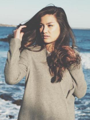 Caila Quinn by the ocean