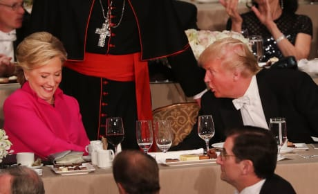Hillary Clinton and Donald Trump at Alfred E. Smith Dinner