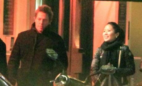 Tinglan Hong and Hugh Grant