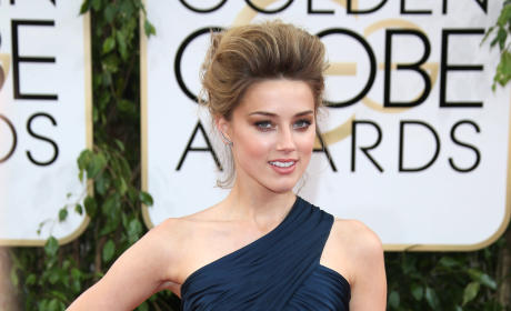 Amber Heard at the Golden Globes