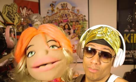 Nick Cannon Gropes Nicki Minaj Puppet, May Actually Be Crazy