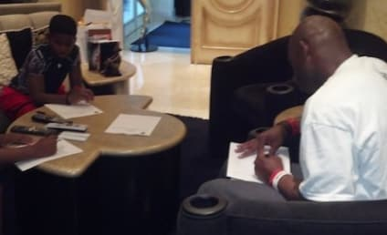 Deion Sanders Posts Twitter Photo of Kids Filling Out Police Reports Against Their Mom