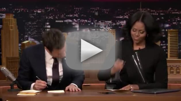 Michelle Obama Reads Thank-You Notes with Jimmy Fallon