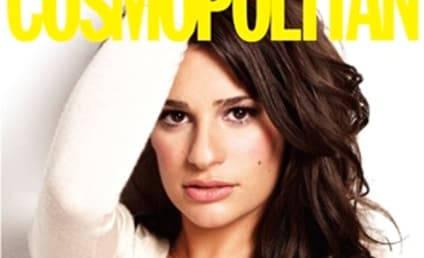 Cosmo Stands By Lea Michele, Cover Shot