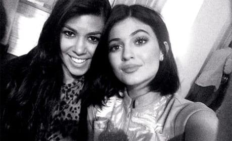 Kourtney and Kylie Photo
