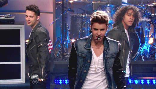 Justin Bieber Performs on NBC