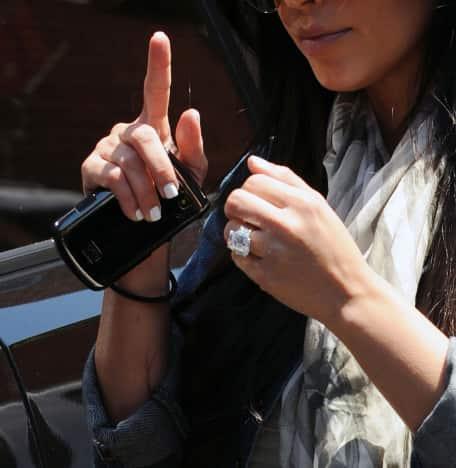 Kim Kardashian Engagement Ring Pic