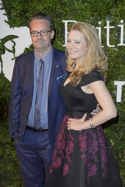 Matthew Perry and Jennifer Mudge: London Evening Standard British Film Awards