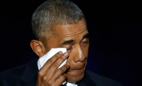 Barack Obama Cries