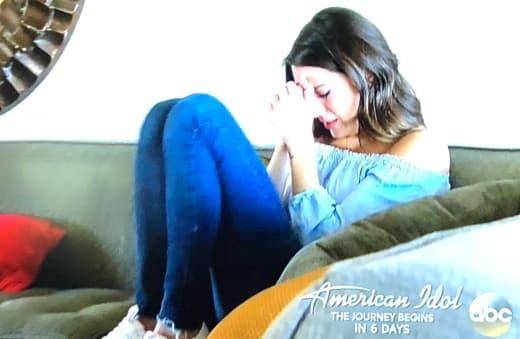 Becca Kufrin Cries
