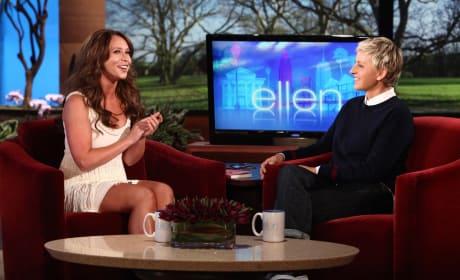 Jennifer Lovw Hewitt and Ellen DeGeneres