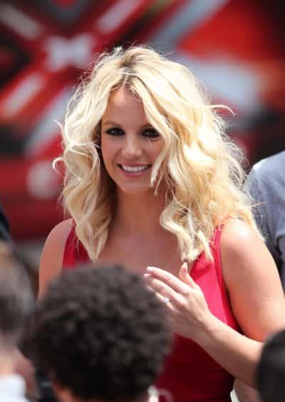Britney Spears on X Factor Set