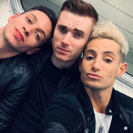 Frankie Grande, Daniel Sinasohn, and Mike Pophis