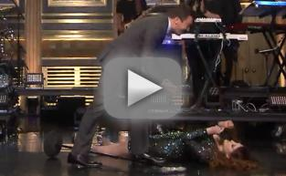 "Meghan Trainor Performs ""Me Too"" On Tonight Show, Trips and Falls"