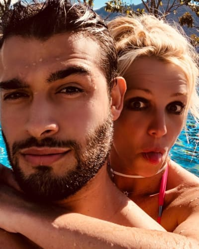 Britney Spears and Sam Asghari Selfie