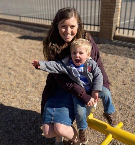 Joy-Anna Duggar with Gideon