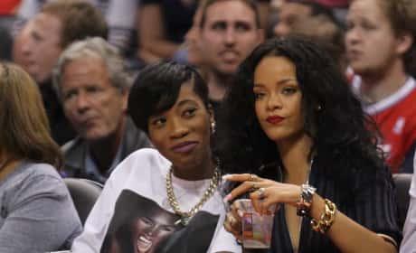 Rihanna Lakers Game Image