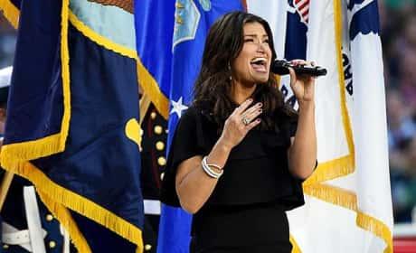 Idina Menzel National Anthem Performance