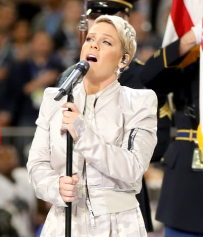 Pink at the Super Bowl