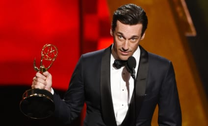 Jon Hamm Throws Shade at Jennifer Westfeldt in Emmy Acceptance Speech