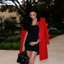 Lilly Ghalichi, Pregnant in a Red Coat