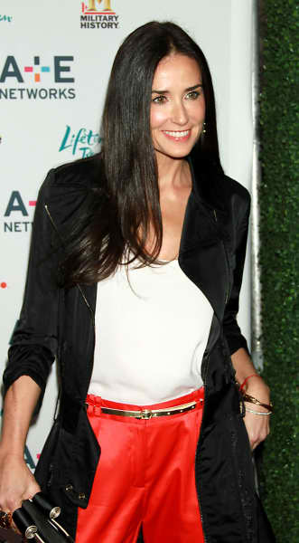 Happy Demi Moore