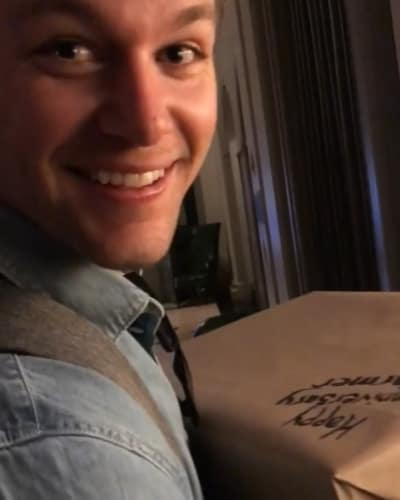 Jeremy Roloff Smiles at Anniversary Gift